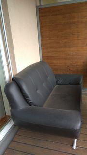 Schwarzer 2 Sitzer für Balkon