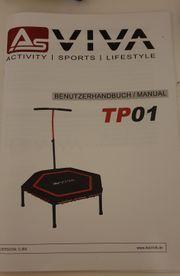 Fitness Trampolin mit Computer und
