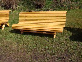 Gartenmöbel - Bayerische Gartenbank fertig lasiert ca