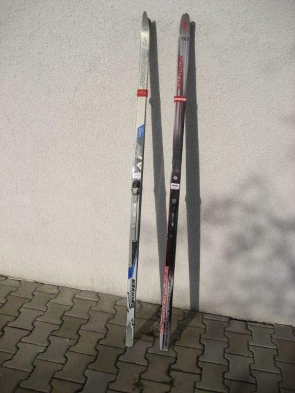 2xLanglaufski 183 185 cm Schuhe