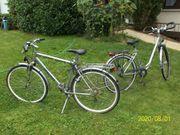 Damen- und Herren-Fahrrad