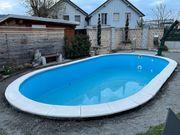 Pool Randsteine Welle Weiss für
