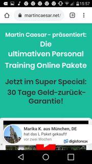 Personal Training Online Paketen von