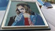 Heiligen Bild Maria Stickbild Gobelin