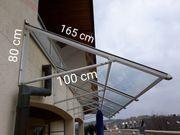 Vordach Terassendach Glas Überdachung