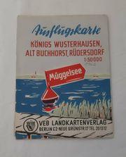 Müggelsee Ausflugskarte von 1957 2301