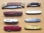 8 gebrauchte Taschenmesser siehe Abbildung