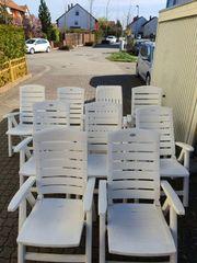 9 Gartenstühle Liegestühle Hochlehner