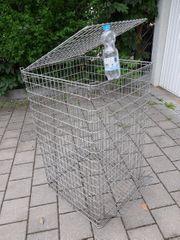 Fetisch-Käfig m Deckel Metall verzinkt