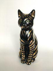 Katze aus Keramik schwarz