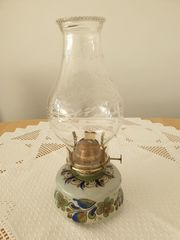 Lampe - Öllampe Handbemalte Lampe petroleumlampe