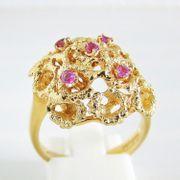 Ring Gold 750er Rubin 18