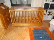 Baby - Kinderbett Naturholz