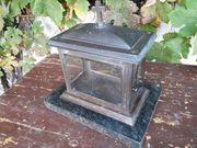 Grablicht - Kupfer Bronze auf schwarzem