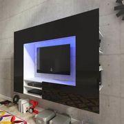 Hochglanz Mediawand Wohnwand LED TV-Wand