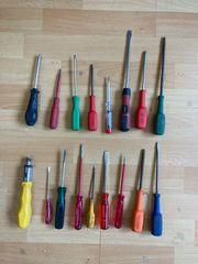 Werkzeug - Schraubenzieher Zangen Hobel - Flohmarktware