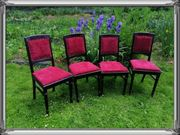 4 Stühle im Jugendstil