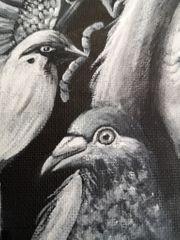 Acrylbild Malkarton 30 x 30