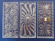 3x dekorative Glasplatte Kuchenplatte Tortenplatte - Vintage