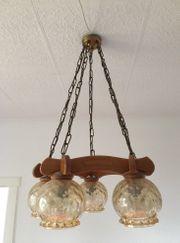 Hängelampe Deckenlampe antik Echtholz Retro