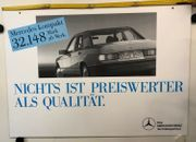 Original altes Plakat Werbe-Schild MERCEDES