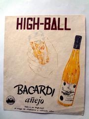 Bacardi altes Reklameschild um 1950