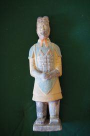 Große Terracotta Statue Daoismus Krieger