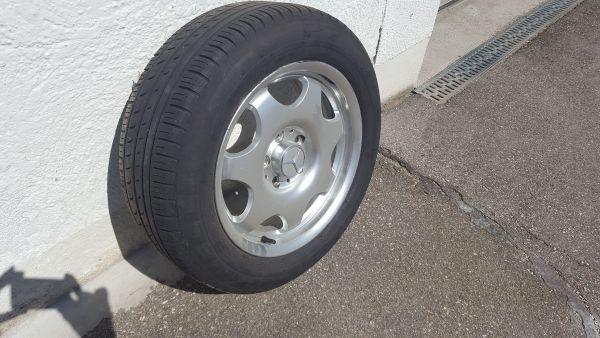 Alufelge Original Mercedes silber neu