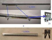 Deckenhänge-Schiene 2x Doppelroller