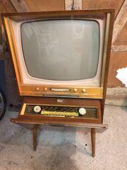 Nostalgie Fernseh-Radio-Console Hornyphon