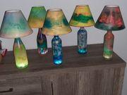 Tischleuchte Flaschenlampe Dekoration Wohnaccessoire Kunst