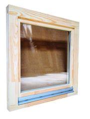 Holzfenster 90x90 cm Europrofil Kiefer
