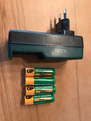 Batterie-Ladegerät incl 4 Akkus