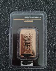 Argor Heraeus Goldbarren Gold