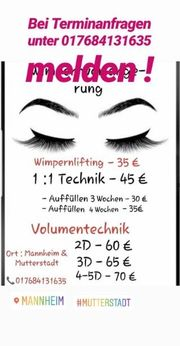 professionelle Wimpern lifting Wimpernverlängerung