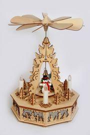 Weihnachtspyramide elekt Winterkinder Tischpyramide Elektropyramide