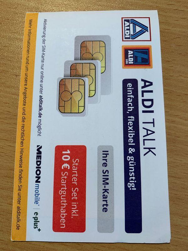 Aldi Talk Sim Karte Kaufen.Eplus Aldi Talk Prepaid Sim Karte Gebraucht Mit 10 00 Eur Guthaben