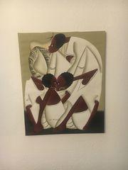 Acrylbild Unikat Afrikanisches Motiv