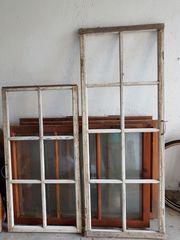 3 alte Sprossenfenster Holzfenster Deko