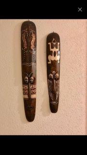 Maske Afrika Paar Deko