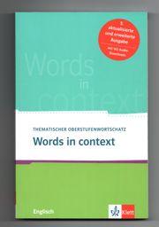 Words in context - Thematischer Oberstufenwortschatz