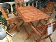 Sitzgarnitur Eukalyptus 5 tlg Gartenmöbel