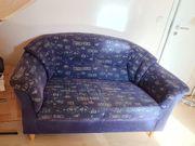 blaues Sofa zu verschenken