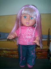Hübsche Puppe bekleidet 36cm neuwertig
