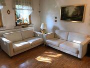 2 Leder-Sofas