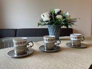 Mokkatassen Espresso Tassen Porzellan Zinnhalter