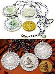 4x Sport Medaille 3x SILBER-1x