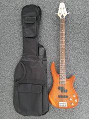 Bassgitarre Vision mit Tasche