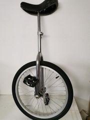 Einrad Fahrrad in Silber
