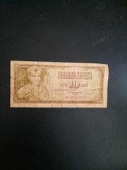 Jugoslavija 10 Dinara Geldschein